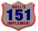 Hull's 151 Implement company logo